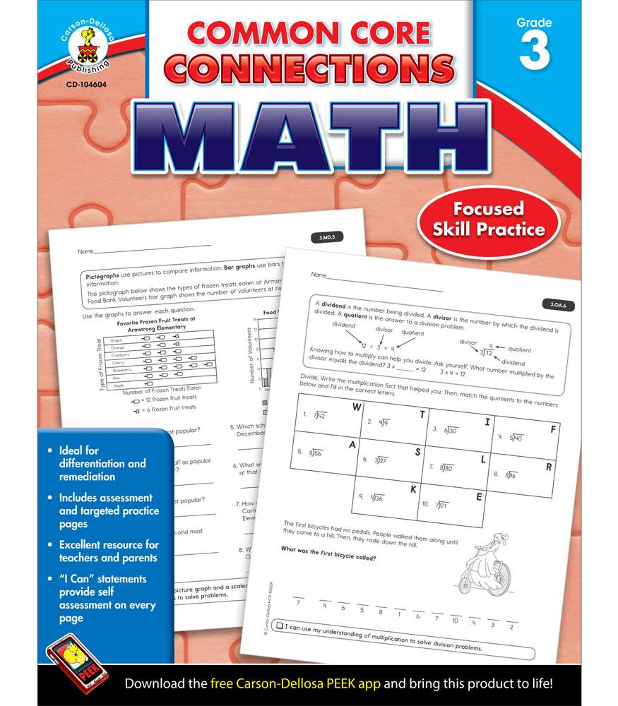 Common Core Connections Math Grade 3