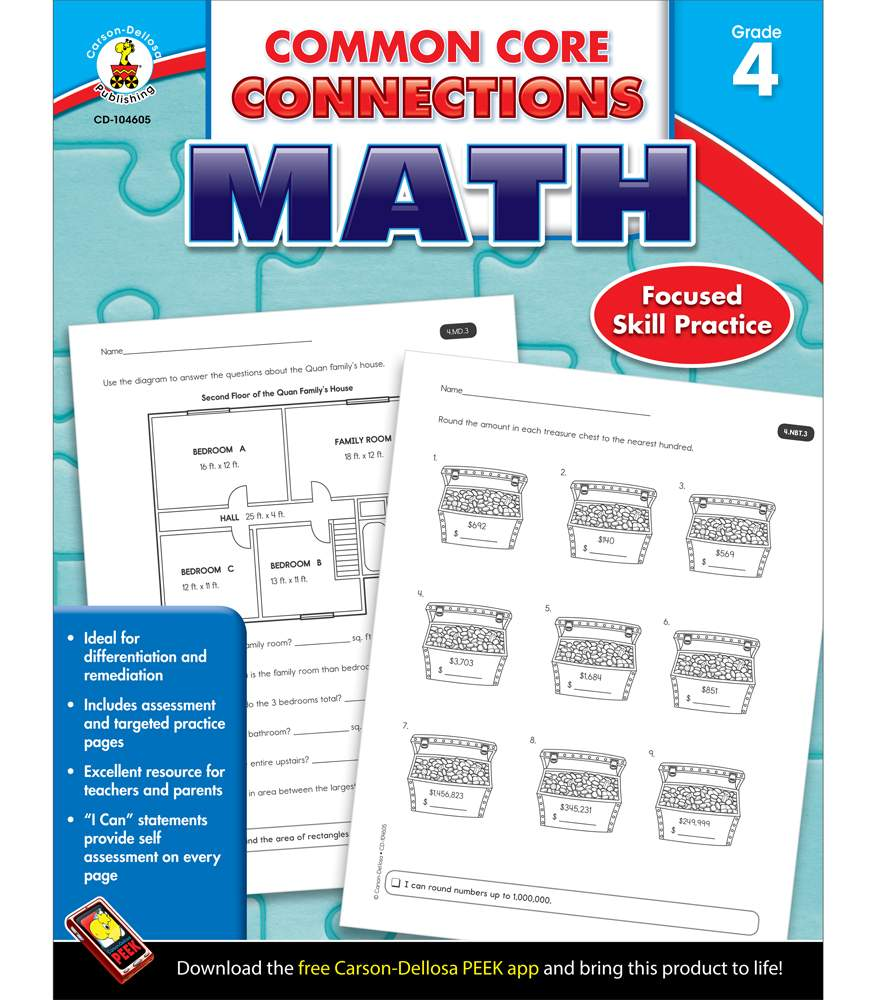 Common Core Connections Math Grade 4