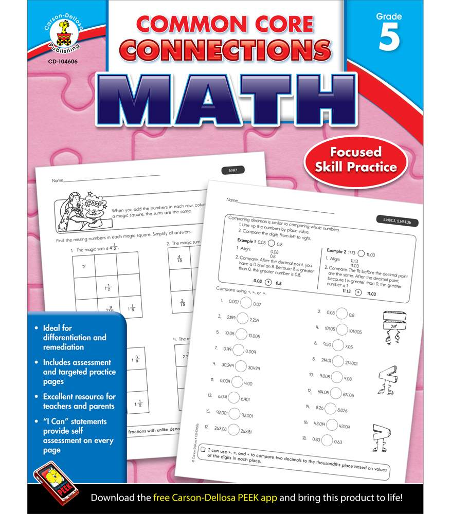 Common Core Connections Math Grade 5