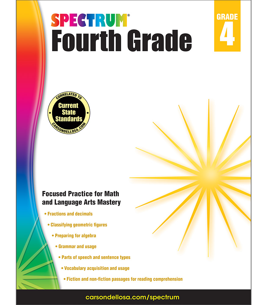 Spectrum Fourth Grade Math Language Arts 4