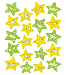 Lemon Lime Stars Motivational Stickers