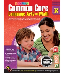Spectrum Common Core Lang Arts & Math Grade K