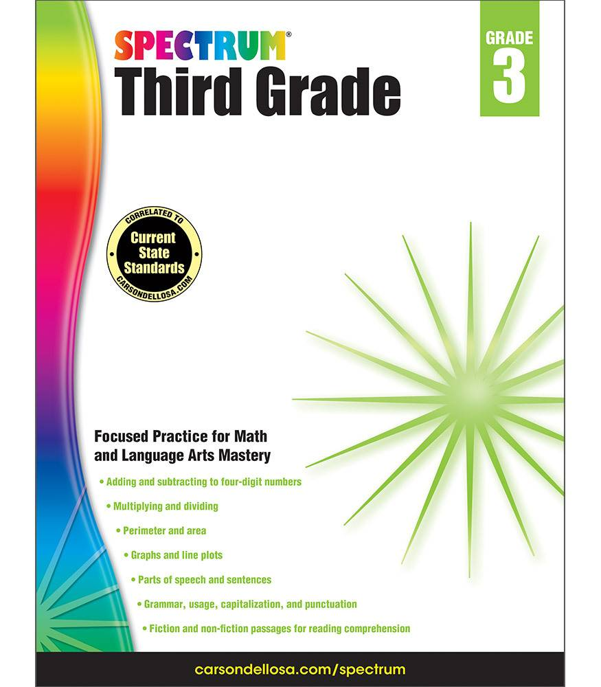 Spectrum Third Grade Math Language Arts 3