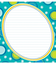 Bubbly Blues Notepad