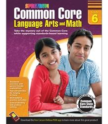 Spectrum Common Core Language Arts & Math Workbooks