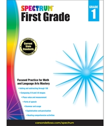 Spectrum First Grade Math, Lang Arts, Reading 1