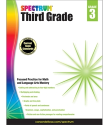 Spectrum Third Grade Math,Lang Arts, Reading 3