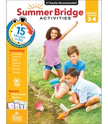 Summer Bridge Activities 3-4 Bridging Third to fourth,Summer Bridge, summer bridge Activities, summer bridge books, summer bridge workbook,  summer workbooks, summer bridge workbooks, summer bridge activity books, summer workbook, schoodoodle, amazon, edugeeks, learning how, learning express, school, pta, pto, bulk, discount, prices,