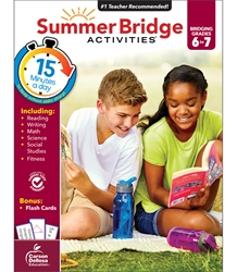 Summer Bridge Activities 6-7 Bridging sixth to seventh,Summer Bridge, summer bridge Activities, summer bridge books, summer bridge workbook,  summer workbooks, summer bridge workbooks, summer bridge activity books, summer workbook, schoodoodle, amazon, edugeeks, learning how, learning express, school, pta, pto, bulk, discount, prices,