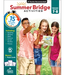 Summer Bridge Activities 7-8 Bridging seventh to eighth,Summer Bridge, summer bridge Activities, summer bridge books, summer bridge workbook,  summer workbooks, summer bridge workbooks, summer bridge activity books, summer workbook, schoodoodle, amazon, edugeeks, learning how, learning express, school, pta, pto, bulk, discount, prices,