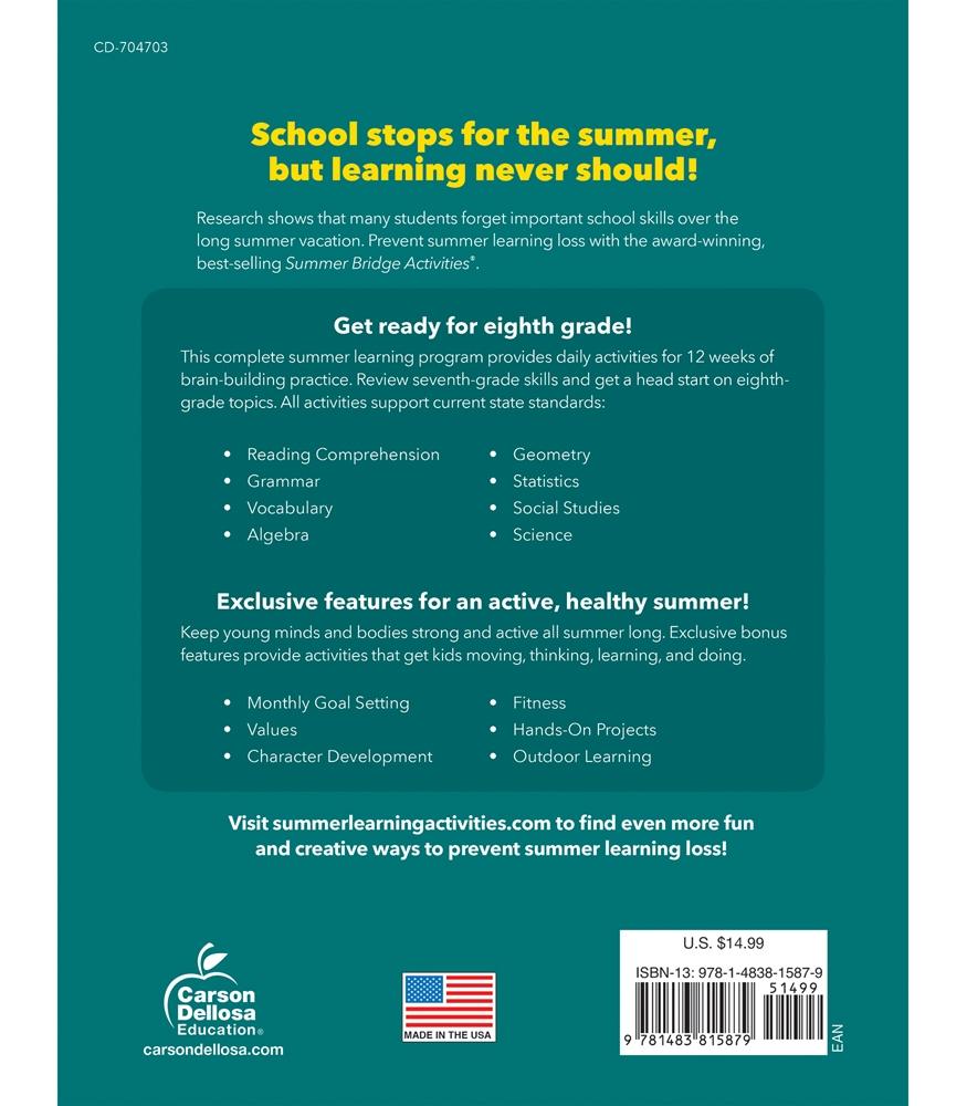 Summer Bridge Activities | Sale $9.99 | Seventh to Eighth ...