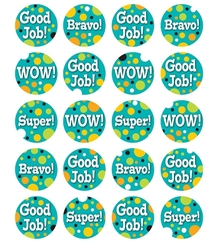 Teal Appeal Motivational Stickers