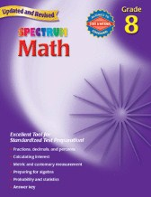 Spectrum Math Grade 8 Workbook