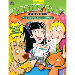 Brainy Day Activities Word Searches, Mazes, and More, Ages 6 - 8
